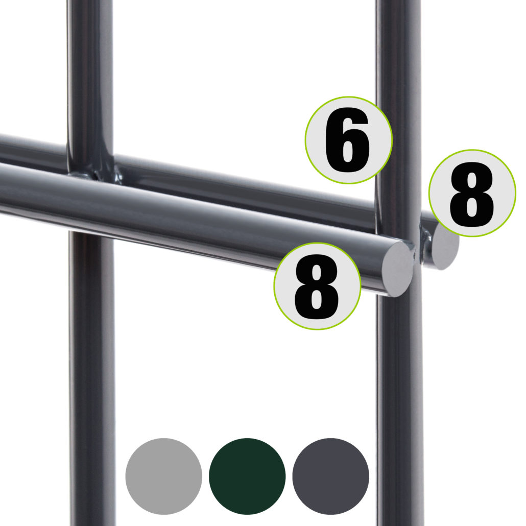 Gut bekannt Doppelstabmatte 8/6/8 von Camas: Stabilität und Langlebigkeit HZ84
