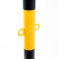 Absperrpfosten Gelb schwarz Detail 01