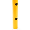 Absperrpfosten Gelb schwarz Detail 02