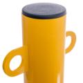 Absperrpfosten Gelb schwarz Detail 03