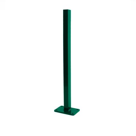 Pfosten Zubehör - Dübelplatte (lang) moosgrün