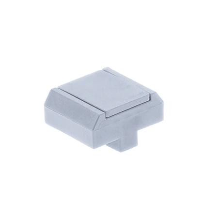 Pfosten Zubehör - Mattenbefestigungsclip Typ 2 hellgrau
