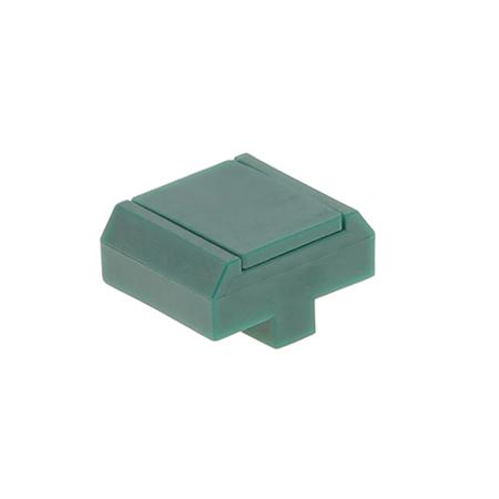 Pfosten Zubehör - Mattenbefestigungsclip Typ 2 moosgrün