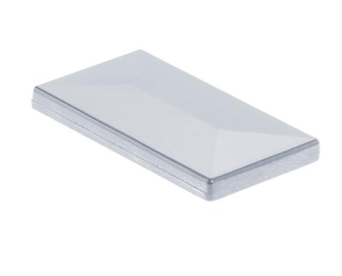 Pfosten Zubehör - Aluminium Pfostenkappe mit Dachüberstand Alu Natur
