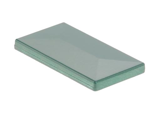 Pfosten Zubehör - Aluminium Pfostenkappe mit Dachüberstand moosgrün