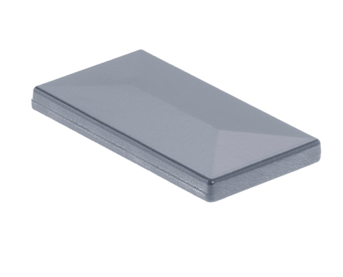 Pfosten Zubehör - Aluminium Pfostenkappe mit Dachüberstand anthrazit