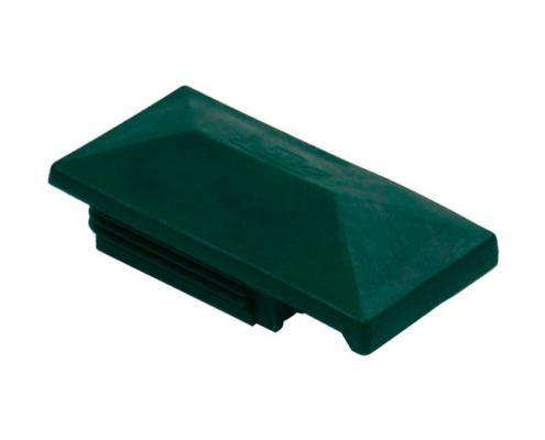 Pfosten Zubehör - Kunststoff Pfostenkappe mit Dachüberstand moosgrün