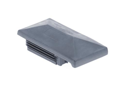 Pfosten Zubehör - Kunststoff Pfostenkappe mit Dachüberstand anthrazit
