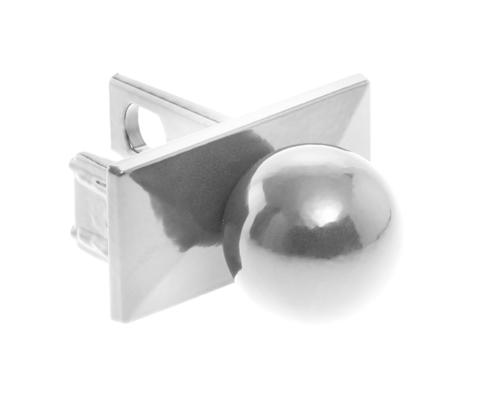 Pfosten Zubehör - Aluminium Pfostenkappe mit Kugel Alu Natur