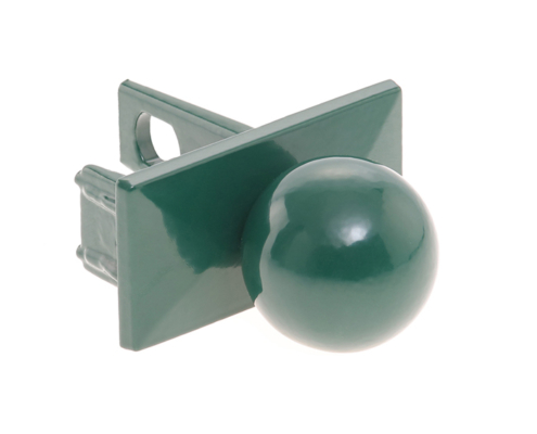Pfosten Zubehör - Aluminium Pfostenkappe mit Kugel moosgrün