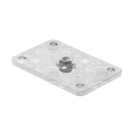Camas Tor Zubehör - Wandmontageplatte (Ben Light Tor) verzinkt